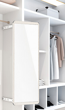super White Corner Mirrored Wardrobe