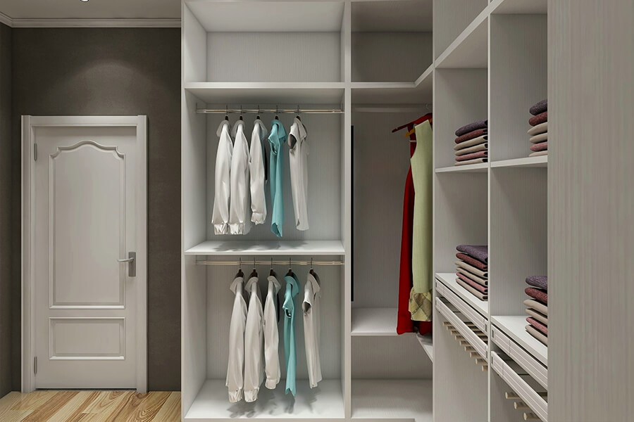 new luxury walk in closet white wardrobe with drawers