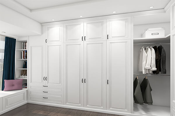 Made White Bespoke Fitted Wooden Wardrobe
