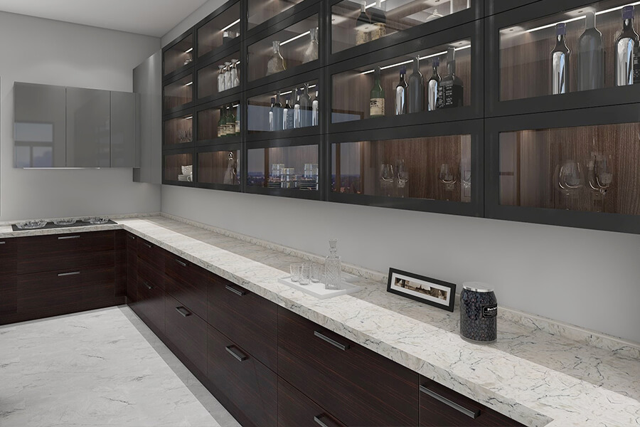 Quality  modern oak wood kitchen pantry cabinets