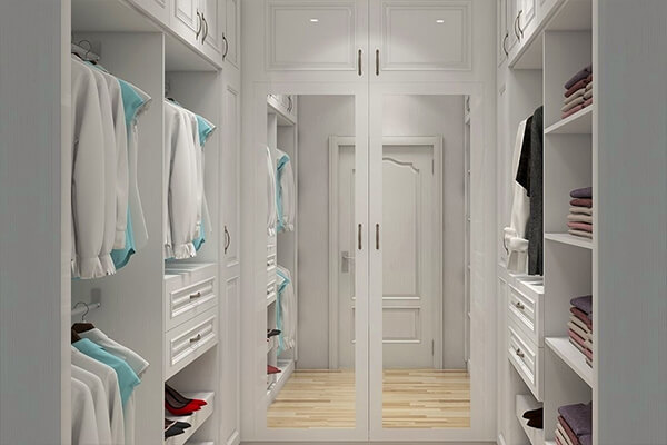 Foshan Walk in Wardrobe Mirror Closet